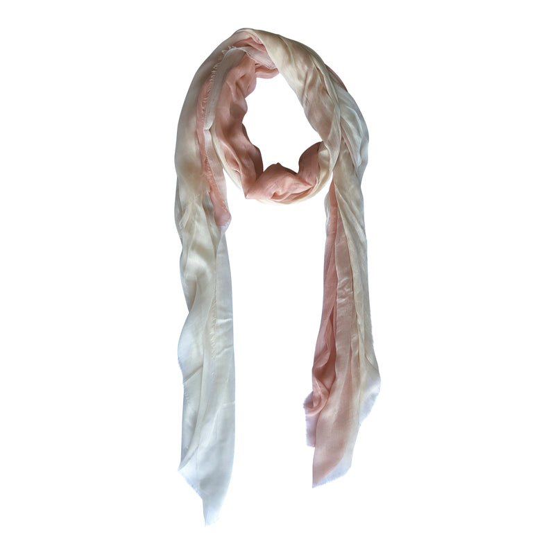 Silk/Cashmere Scarf (Peaches/Cream)