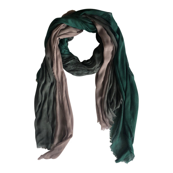 Silk/Cashmere Scarf (Slate/Teal)