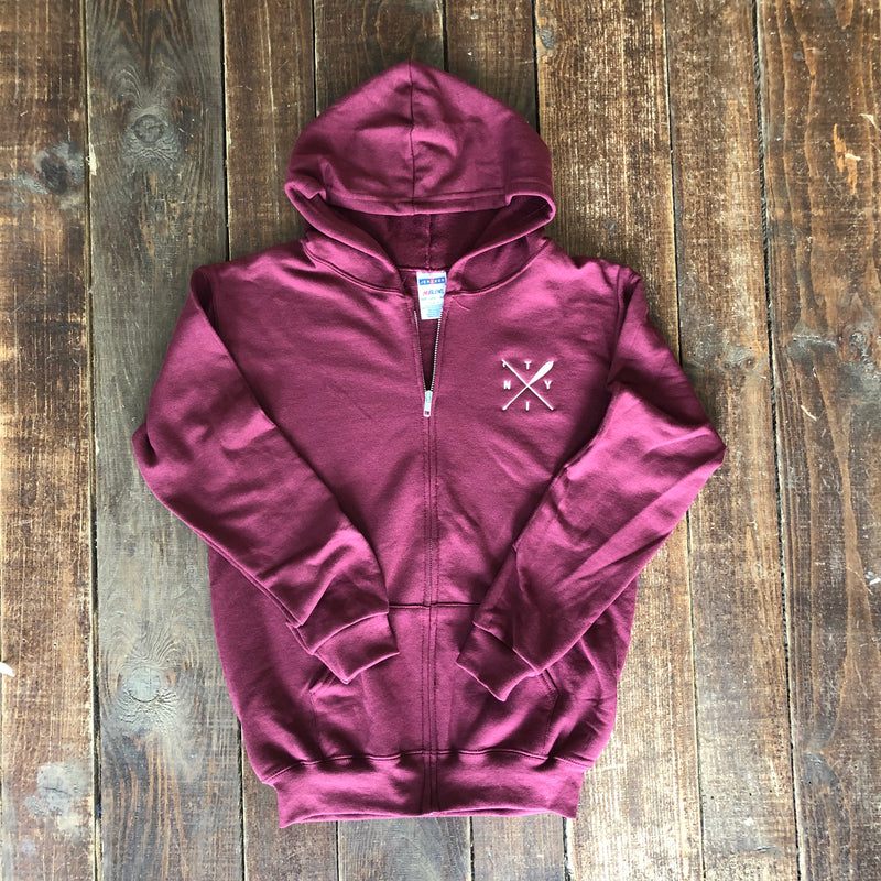 Boat Hook and Paddle Youth Full Zip Hoodie