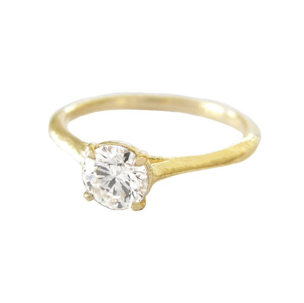 Aerial Diamond Ring in 14K Yellow Gold