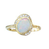 Oasis Opal Ring in 14K Yellow Gold