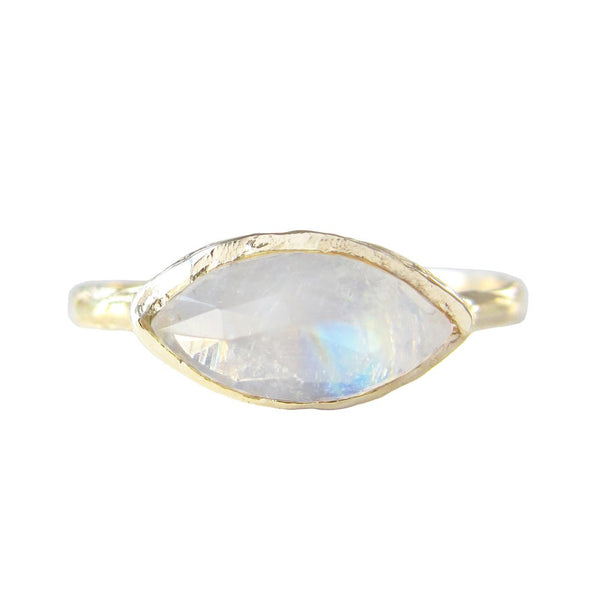 Tribe Moonstone Ring in 14K Yellow Gold