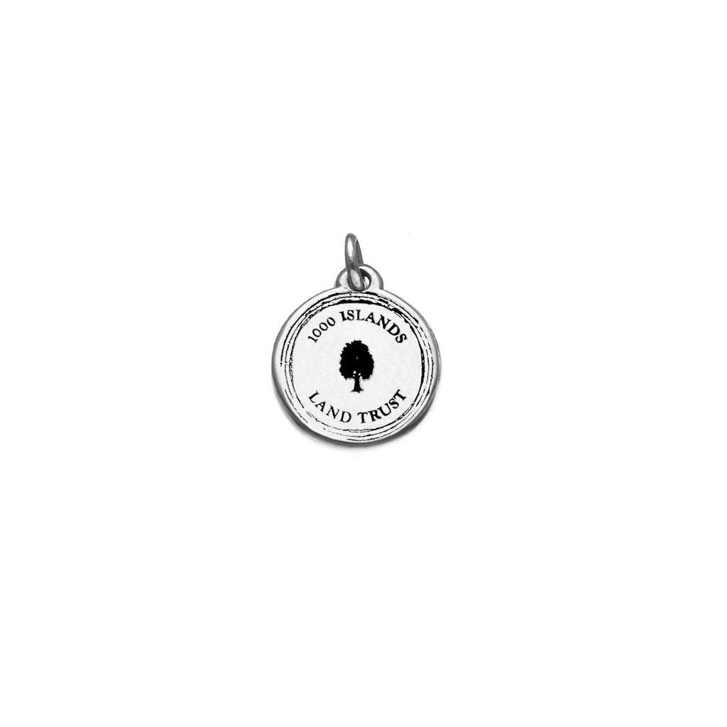 Small Disc Charm in Sterling Silver (TILT)