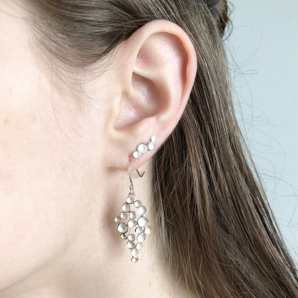 Marquise Champagne Earrings in Sterling Silver