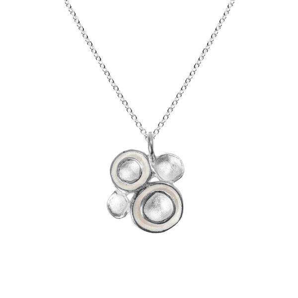 Four Pod Pendant Necklace in Sterling Silver