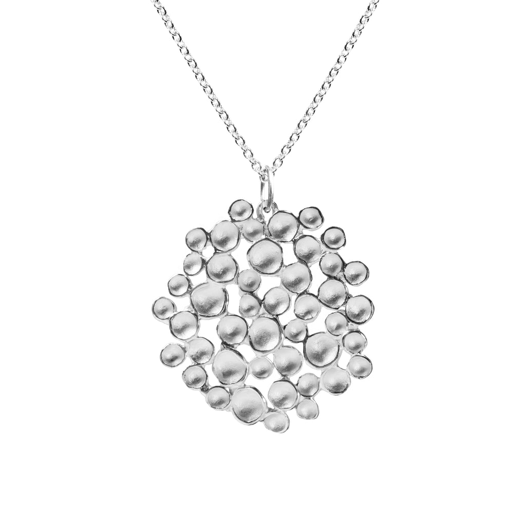 Large Champagne Pod Necklace in Sterling Silver