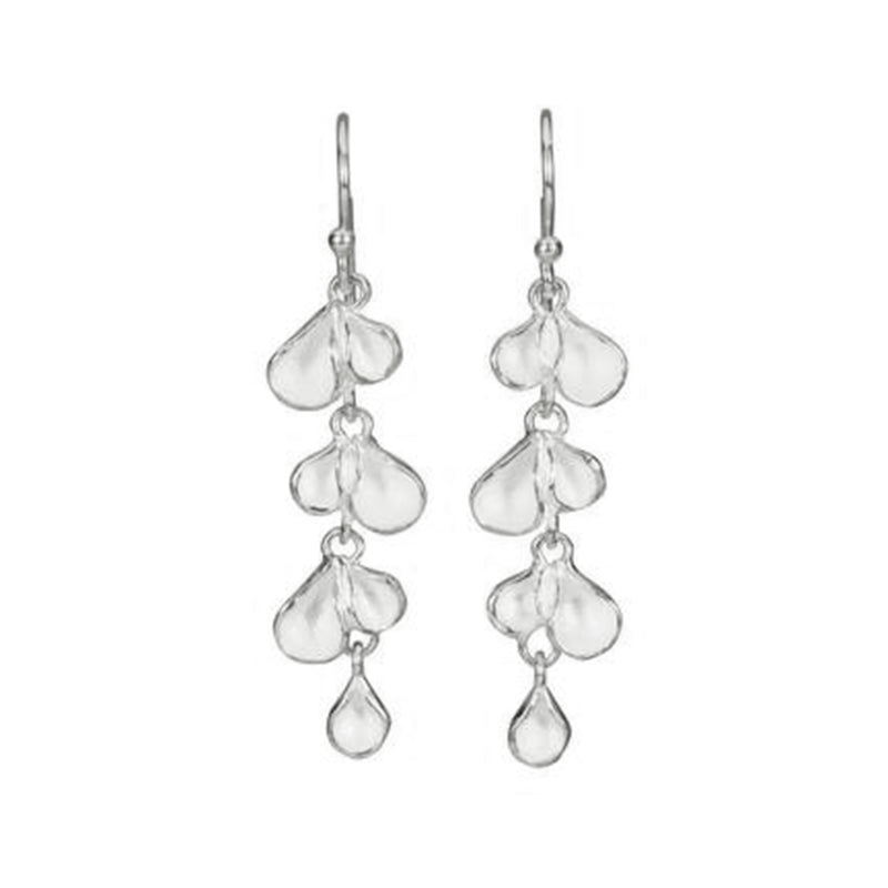 Long Petal Pod Earrings in Sterling Silver