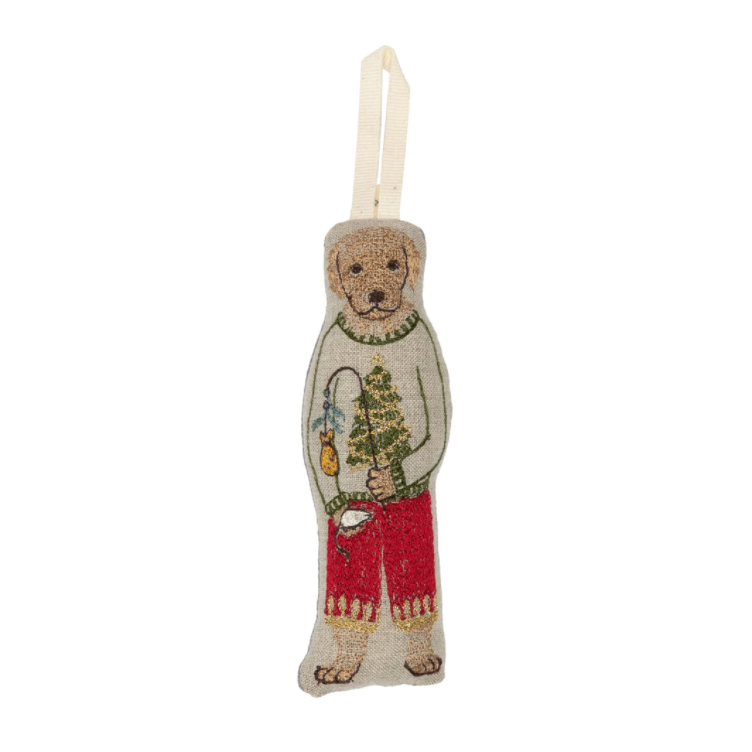 Dog with Gifts Ornament