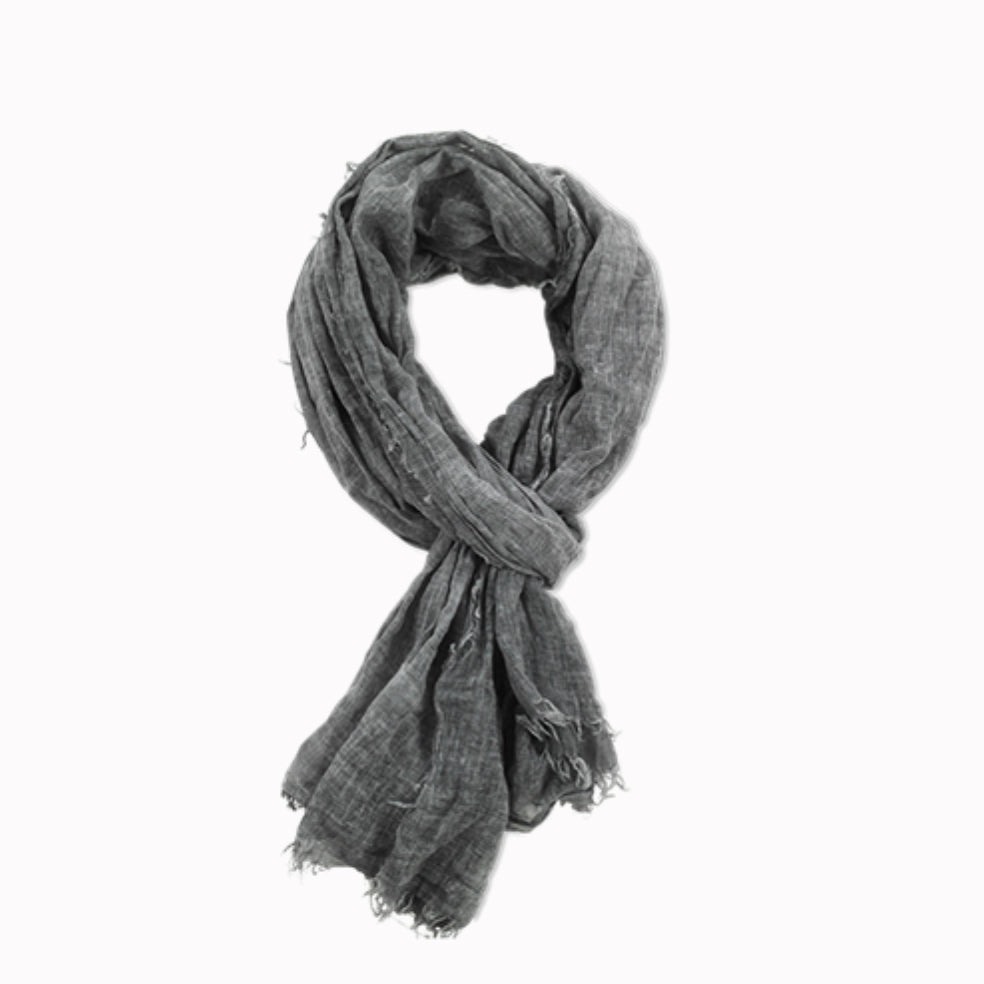 Pya Cotton Scarf (Charcoal)
