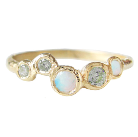 Effervescence Opal Ring in 14K Yellow Gold