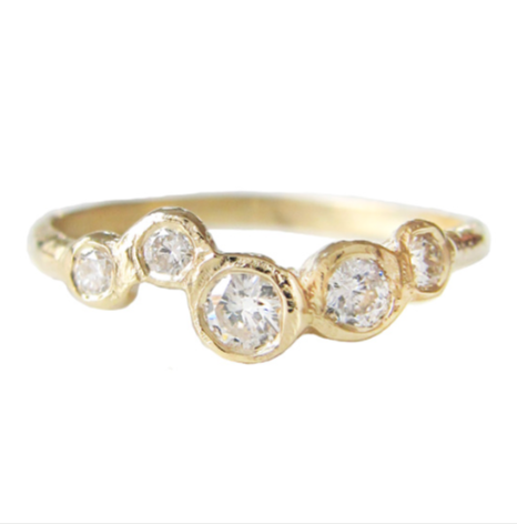 Effervescence Diamond Ring in 14K Yellow Gold