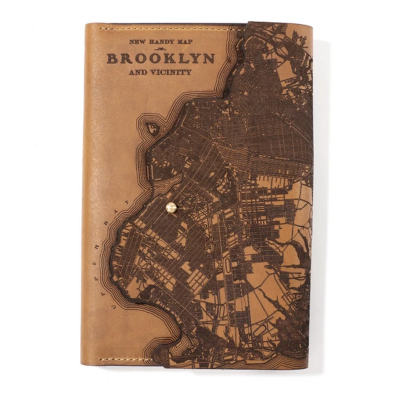 Brooklyn Map Leather Journal