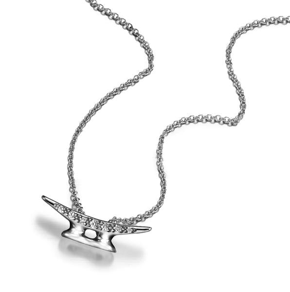Signature Cleat Necklace with Diamonds