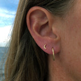 Moon Earrings in 14K Yellow Gold