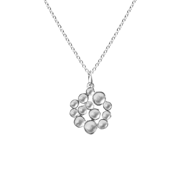 Small Champagne Pod Necklace in Sterling Silver