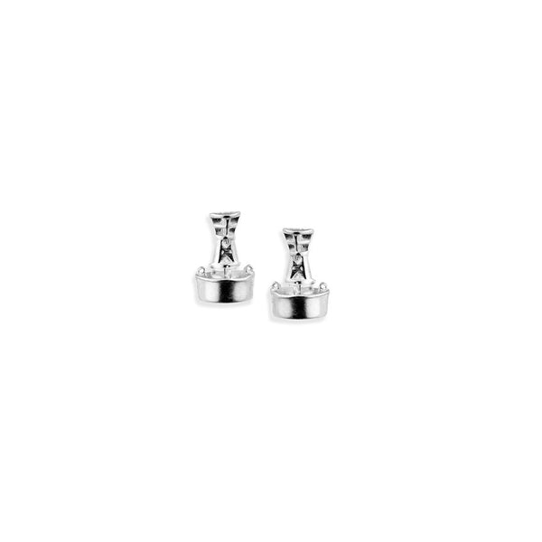 Channel Marker Stud Earrings in Sterling Silver