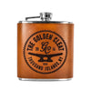 Handmade Leather Flask (The Golden Cleat)