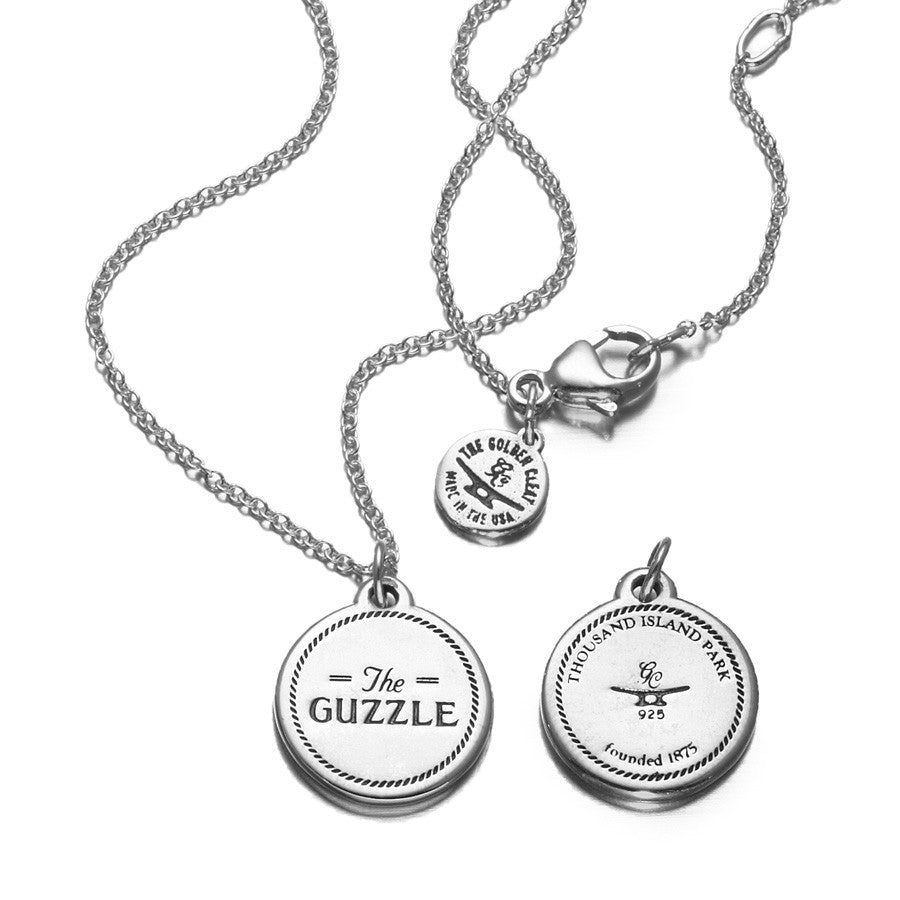 Small Disc Necklace in Sterling Silver (The Guzzle)