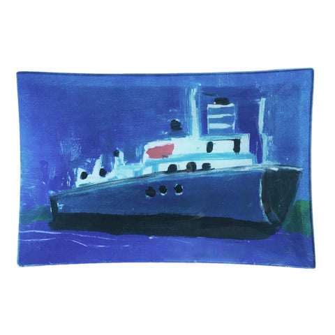 "Medium Découpage Tray - Tisa Collaboration - ""Bulk Carrier"" Freighter"