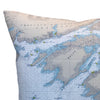 Indoor/Outdoor Chart Pillow (Lake Ontario to Grindstone Island)