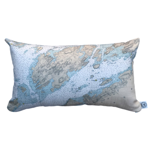 Indoor/Outdoor Lumbar Chart Pillow (Wolfe Island to T. I. Park)
