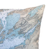 Indoor/Outdoor Chart Pillow (Gananoque to Lake of the Isles)