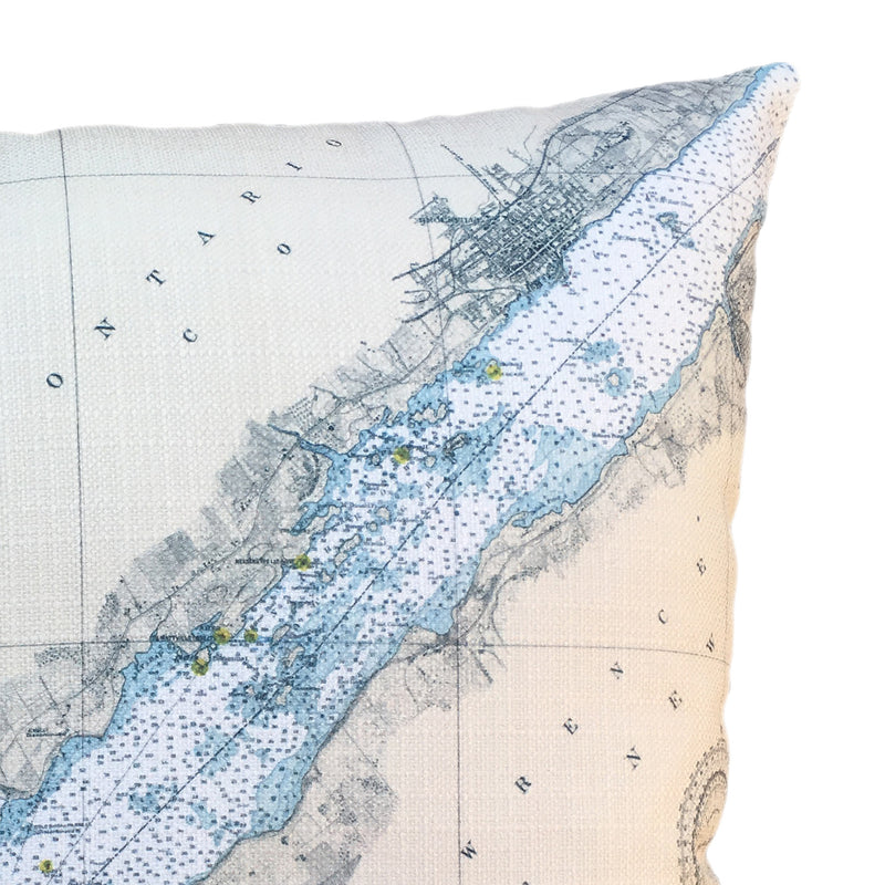 Indoor/Outdoor Chart Pillow (Morristown, Brockville)