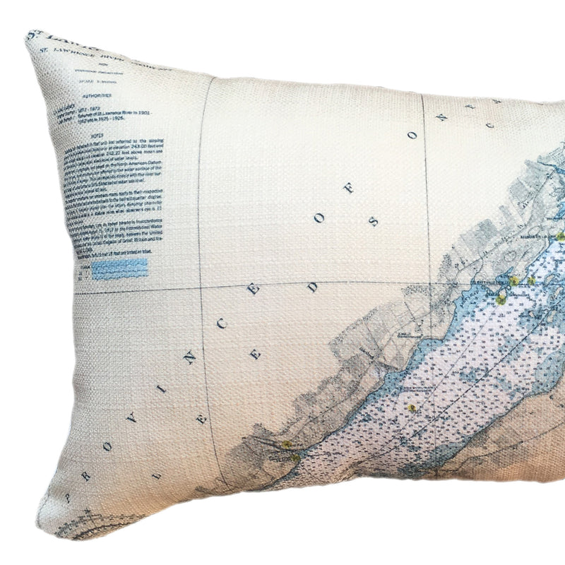 Indoor/Outdoor Lumbar Chart Pillow (Morristown, Brockville)
