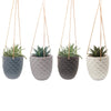 Medium Thimble Hanging Planter (White)