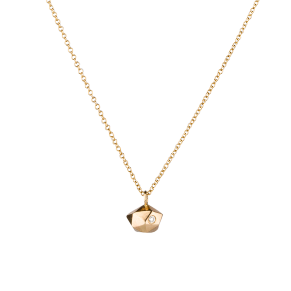 Tiny Fragment Diamond Necklace in 14K Yellow Gold