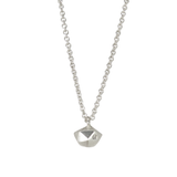 Tiny Fragment Diamond Necklace in Sterling Silver