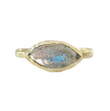 Tribe Labradorite Ring in 14K Yellow Gold