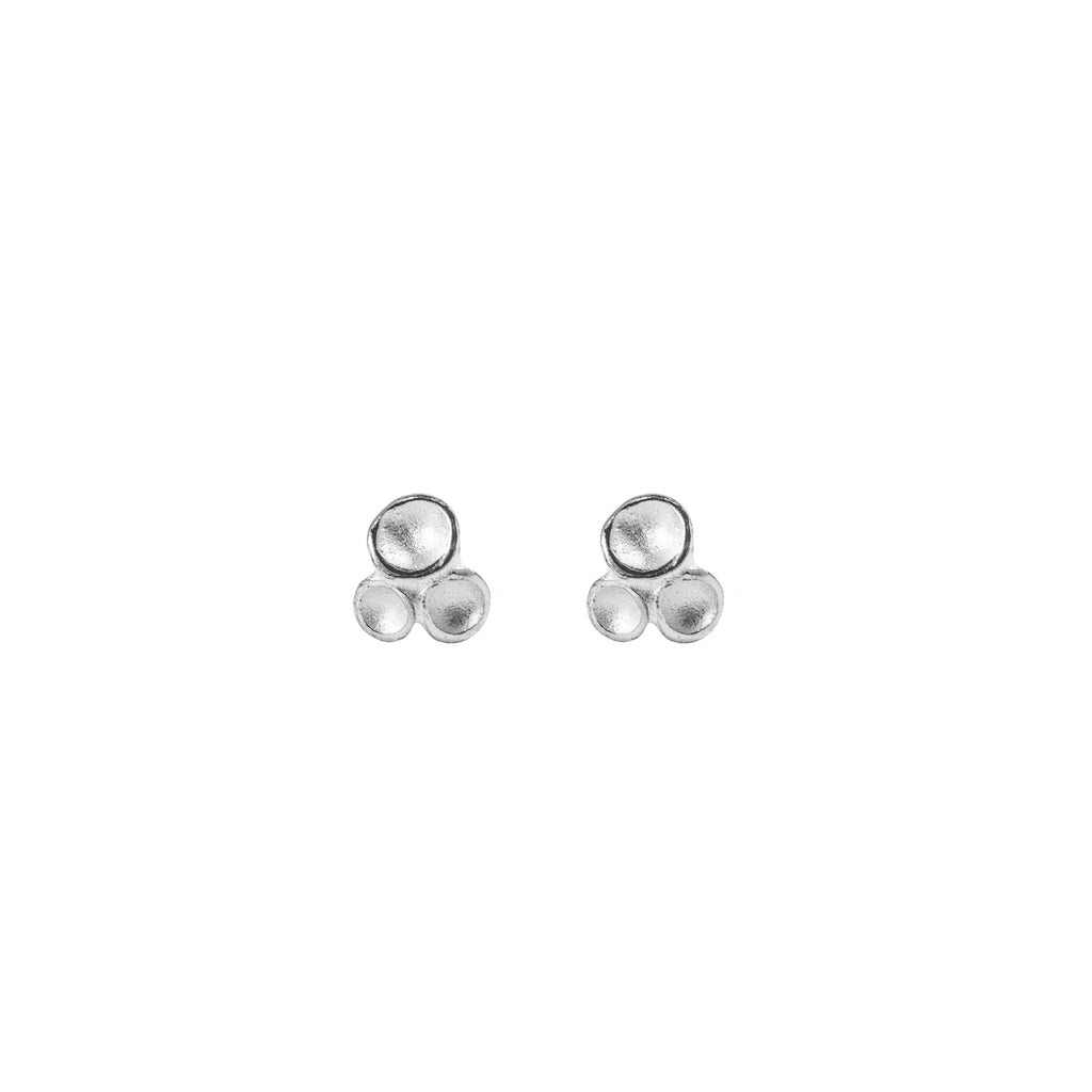 Petite TriPod Stud Earrings in Sterling Silver