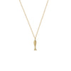 Small Fish Necklace in 14K Yellow Gold