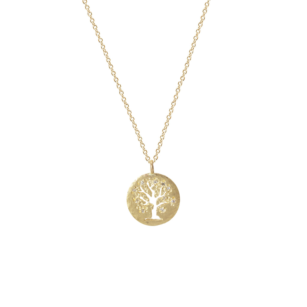 Tree of Life Necklace in 14K Yellow Gold