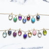 Organic Set Gemstone Charm Necklace