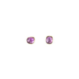 Organic Set Gemstone Stud Earrings
