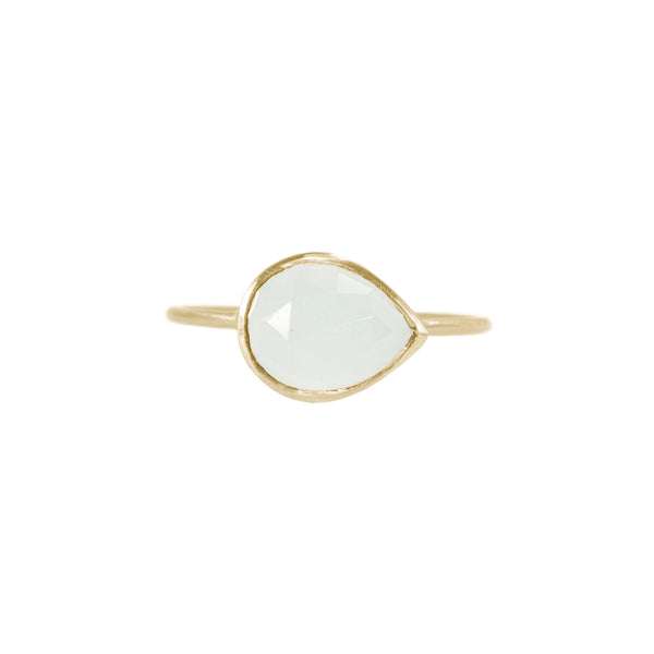Aquamarine Ring in Solid 18K Gold