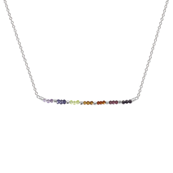 Chakra Gemstone Bar Necklace