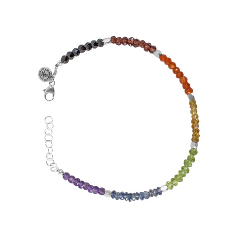 Chakra Gemstone Beaded Color Block Bracelet