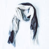 Silk/Cashmere Scarf (Black/White)