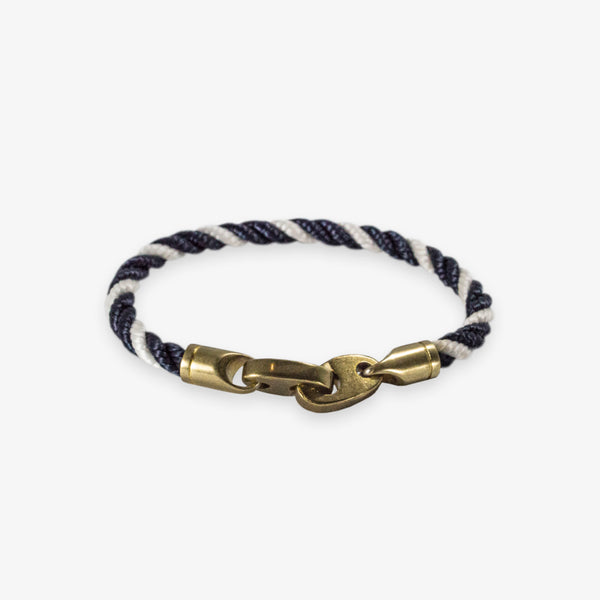 Journey Single Rope Bracelet (Navy/White)