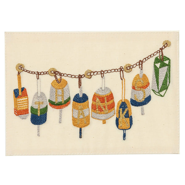 Embroidered Card (Buoy Oh Buoy, Thanks!)