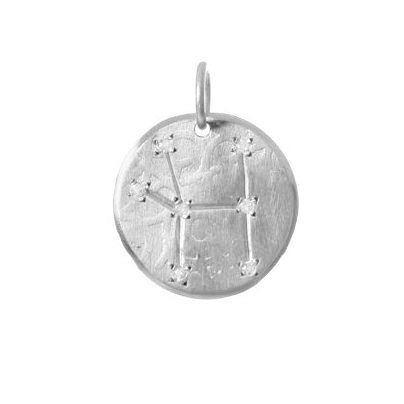 Cancer Constellation with Diamonds in Sterling Silver