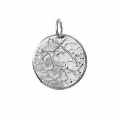 Gemini Constellation with Diamonds in Sterling Silver
