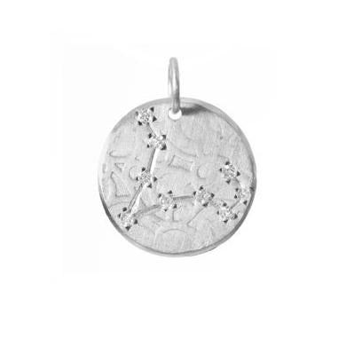 Pisces Constellation with Diamonds in Sterling Silver