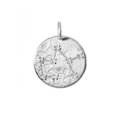 Sagittarius Constellation with Diamonds in Sterling Silver