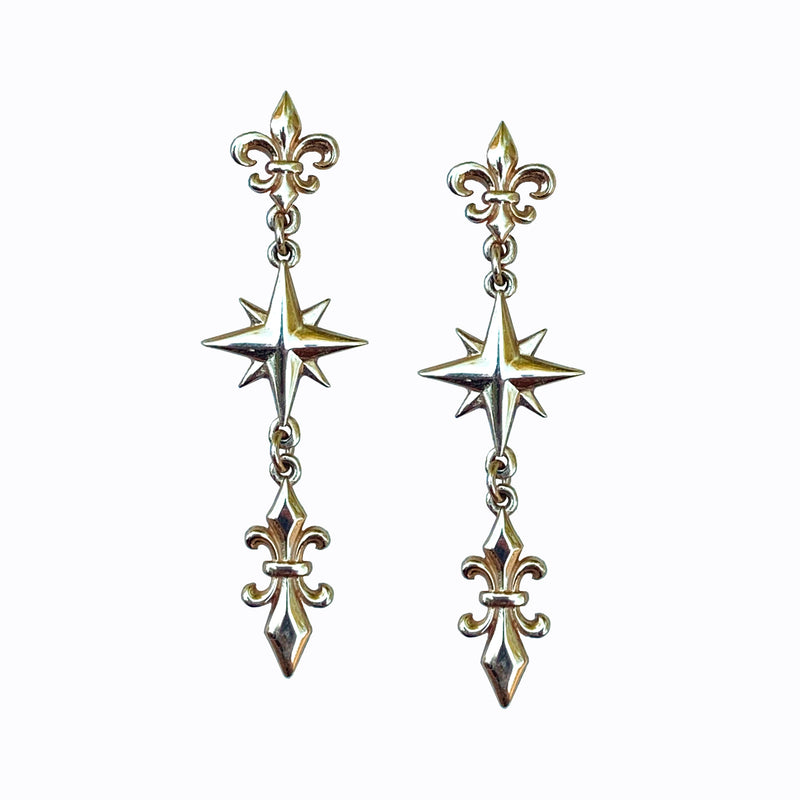 Cardinal Points Compass Earrings