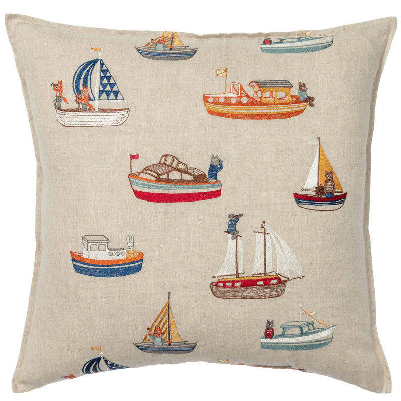 Throw Pillow (Boats)