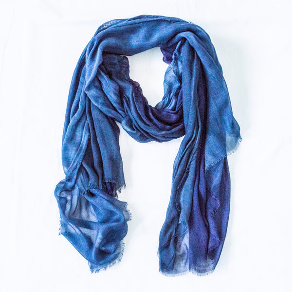 Silk/Cashmere Scarf (Dark Denim)
